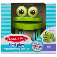 Melissa & Doug First Play Frolicking Frog Pull Toy from Blain's Farm and Fleet