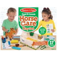 Melissa & Doug Feed & Groom Horse Care Play Set from Blain's Farm and Fleet