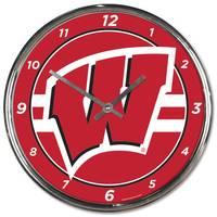 All Star Sports Wisconsin Chrome Clock from Blain's Farm and Fleet