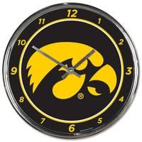 All Star Sports Iowa Chrome Clock from Blain's Farm and Fleet