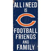All Star Sports Chicago Bears All I Need Is Football, Family & Friends Sign from Blain's Farm and Fleet