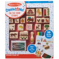 Melissa & Doug Wooden Farm Scene Stamp Set from Blain's Farm and Fleet