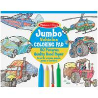 Melissa & Doug Jumbo Coloring Pad, Vehicles from Blain's Farm and Fleet