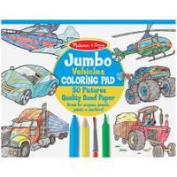 Melissa & Doug Jumbo Coloring Pad, Vehicles from Blain's Farm and Fleet