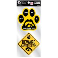 All Star Sports Iowa Hawkeyes Pet Double Up Stickers from Blain's Farm and Fleet