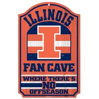 All Star Sports University of Illinois Fighting Illini 11x17 Wood Sign from Blain's Farm and Fleet