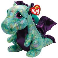 Ty Beanie Boo Large Cinder - Green Dragon from Blain's Farm and Fleet