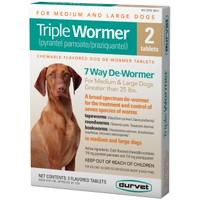 Durvet Triple Wormer 2-Pack Tab from Blain's Farm and Fleet