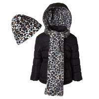 iXtreme Girls Cheetah Lined Puffer Jacket from Blain's Farm and Fleet