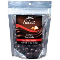 Blain's Farm & Fleet Select Extra Dark Chocolate Toffee Almonds 12 oz from Blain's Farm and Fleet