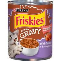 Friskies 13.5 oz Extra Gravy Chunky With Turkey in Savory Gravy Wet Cat Food from Blain's Farm and Fleet