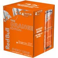 Red Bull 4 Pack 8.4 oz Orange Edition from Blain's Farm and Fleet