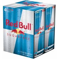 Red Bull 12 oz Sugarfree Energy Drink 4-Pack from Blain's Farm and Fleet