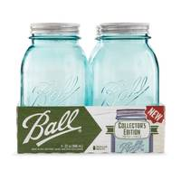 Ball 4-Pack Elite Collection Regular Mouth Quart 32 oz Aqua Vintage Mason Jars from Blain's Farm and Fleet