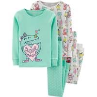 Carter's Little Girl's 4-Piece Monster Snug Fit Cotton PJs from Blain's Farm and Fleet
