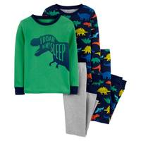 Carter's Little Boy's 4 Piece Dinosaur Pajamas from Blain's Farm and Fleet