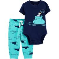 Carter's Infant Boy's 2-Piece Hippo Bodysuit Pant Set from Blain's Farm and Fleet