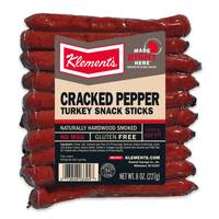Klement's 8 oz Cracked Pepper Turkey Sticks from Blain's Farm and Fleet
