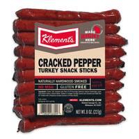 Klements 8 oz Cracked Pepper Turkey Sticks from Blain's Farm and Fleet