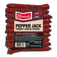 Klement's 8 oz Pepper Jack Turkey Snack Sticks from Blain's Farm and Fleet