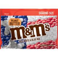M&M's 9.6 oz Red, White and Blue Peanut Butter Sharing Size Bag from Blain's Farm and Fleet
