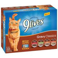 9 Lives 48 Count 5.5 oz Gravy Classics Variety Pack Cat Food from Blain's Farm and Fleet
