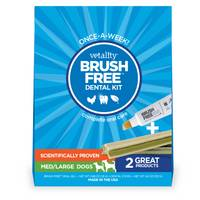 Vetality Medium-Large Dog Brush Free Dental Kit from Blain's Farm and Fleet