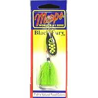 Mepps Chartreuse Dot Black Fury Fishing Lure from Blain's Farm and Fleet