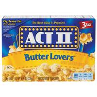 ACT II Butter Lovers Microwave Popcorn 3 Pack from Blain's Farm and Fleet