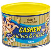 Blain's Farm & Fleet 34 oz Cashew Halves and Pieces Tin from Blain's Farm and Fleet