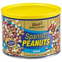 Blain's Farm & Fleet 34 oz Spanish Peanuts Tin from Blain's Farm and Fleet