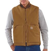 Carhartt Men's Brown Arctic Quilt Lined Duck Vest from Blain's Farm and Fleet