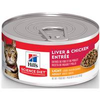 Hill's Science Diet 5.5 oz Minced Light Liver & Chicken Adult Canned Cat Food from Blain's Farm and Fleet