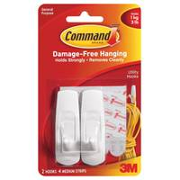 Command Medium Hook with Command Adhesive from Blain's Farm and Fleet