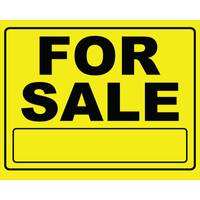 Hillman Black & Yellow For Sale Sign from Blain's Farm and Fleet