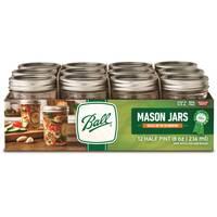 Ball 12-Pack Regular Mouth 1/2 Pint 8 oz Mason Jars from Blain's Farm and Fleet