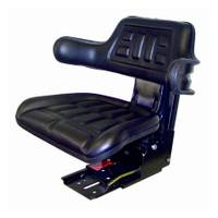 Concentric International Black Universal Tractor Seat with Adjustable Suspension from Blain's Farm and Fleet