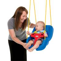 Little Tikes Blue 2 - in - 1 Snug 'n Secure Swing from Blain's Farm and Fleet