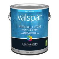 Valspar 1 Gallon Medallion Interior Flat Latex Wall Paint from Blain's Farm and Fleet