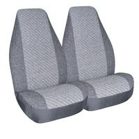 Allison Gray Super Tweed Universal Bucket Seat Covers from Blain's Farm and Fleet
