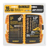 DEWALT 16 Piece Pilot Point Gold Ferrous Oxide Drill Bit Set from Blain's Farm and Fleet