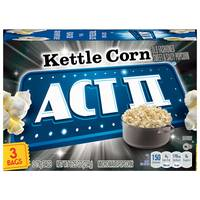 ACT II Kettle Corn Microwave Popcorn 3 Pack from Blain's Farm and Fleet