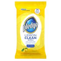 Pledge Lemon Wipes - 24 Count from Blain's Farm and Fleet