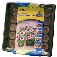 Jiffy 25 Cell Peat Pellets Professional Greenhouse from Blain's Farm and Fleet