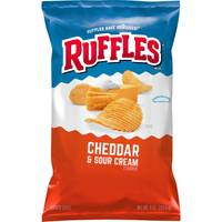 Ruffles Family Size Cheddar & Sour Cream Potato Chips from Blain's Farm and Fleet