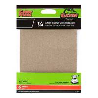 Gator 1/4 Sheet Clamp - On Sandpaper 6 Pack from Blain's Farm and Fleet