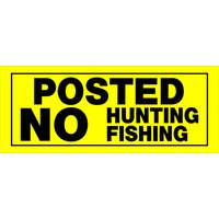 Hillman Plastic Posted No Hunting Fishing Sign from Blain's Farm and Fleet