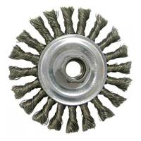 Weiler Vortec Pro Standard Twist Knot Wire Wheel with Threaded Arbor from Blain's Farm and Fleet