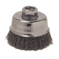 Weiler Vortec Pro Crimped Wire Cup Brush with 1/2