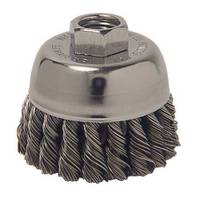 Weiler Vortec Pro Knot Wire Cup Brush with Threaded Arbor from Blain's Farm and Fleet